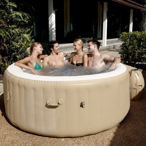 Piscina Spa Lay Z Palm Springs  4 6 adulti 196x71 Vasca Idromassaggio Riscaldata