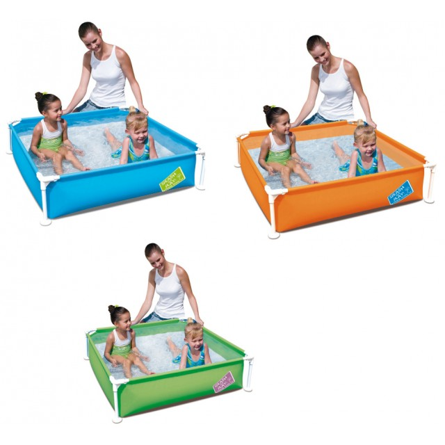 Bestway Piscina Quadrata My First Steel Pro Frame Pool 122x122x31 Bimbi Piccoli